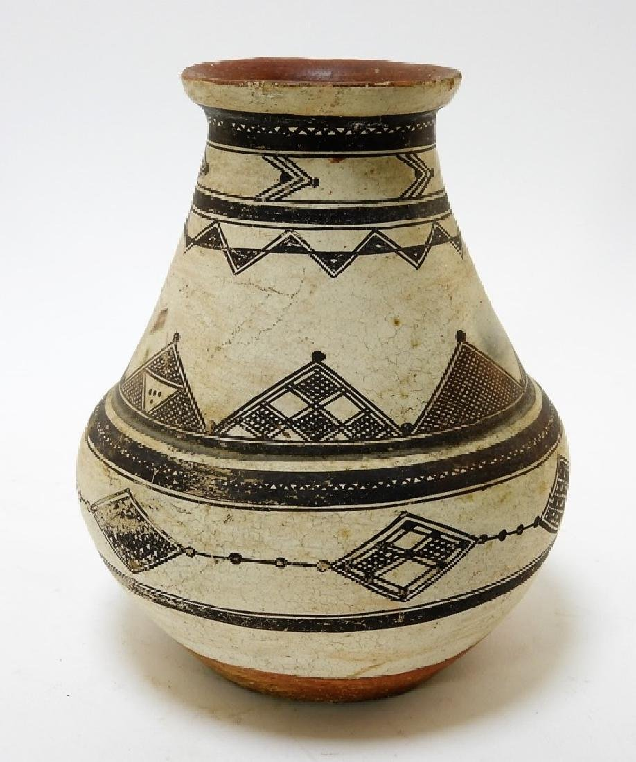 19C. Native American Decorated Zuni Pottery Vessel - 2