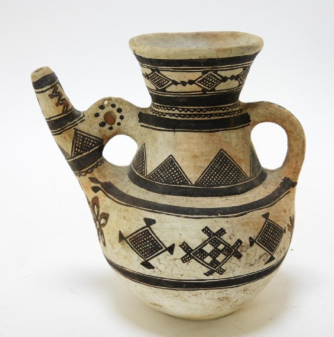 19C. American Indian Zuni Tribe Handled Vessel