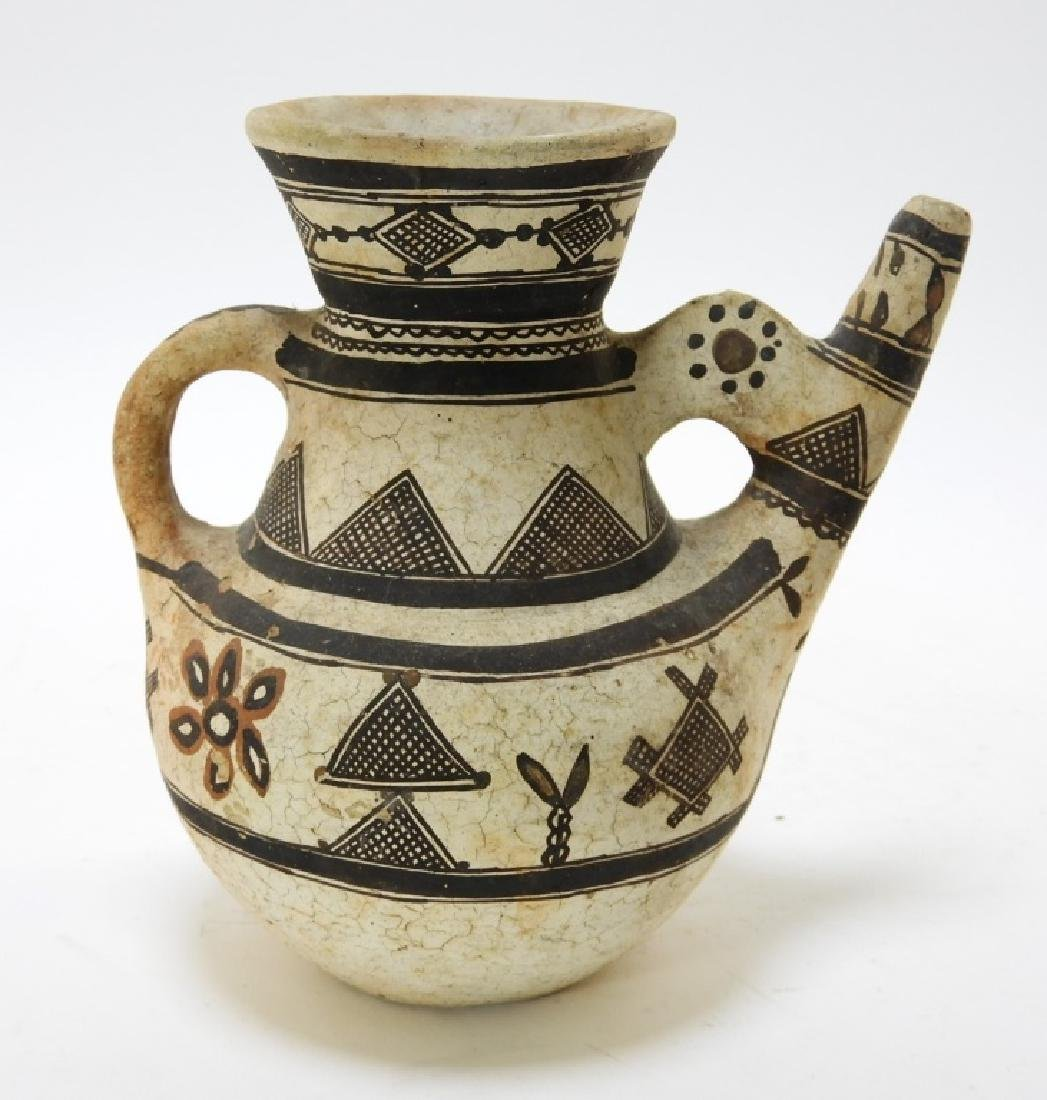 19C. American Indian Zuni Tribe Handled Vessel - 3