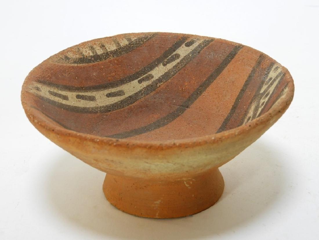 Three Pre-Columbian Pottery Nazca Culture Bowls - 6