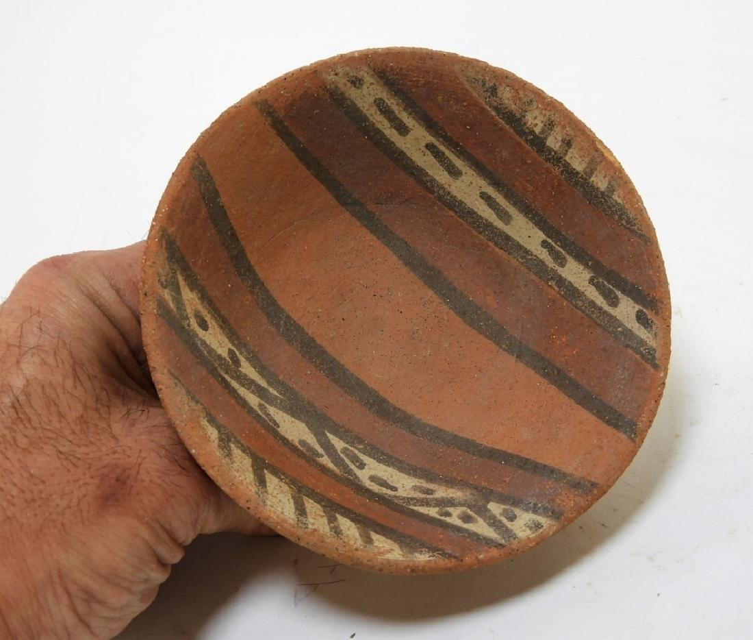 Three Pre-Columbian Pottery Nazca Culture Bowls - 7