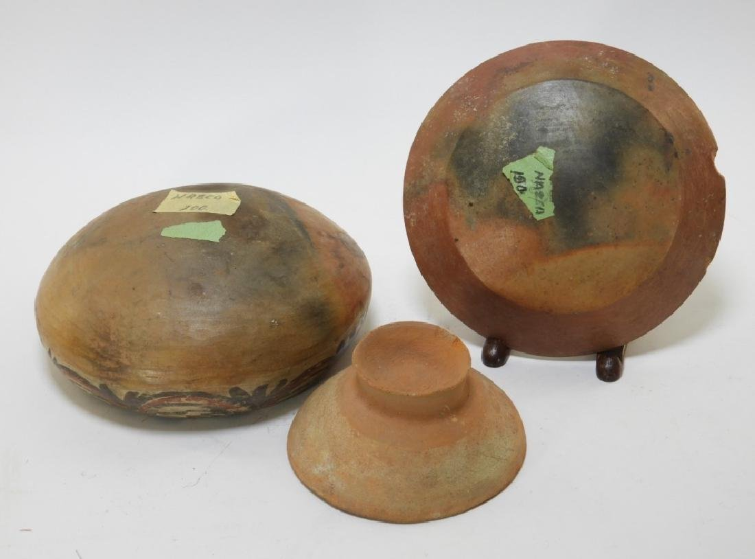 Three Pre-Columbian Pottery Nazca Culture Bowls - 8