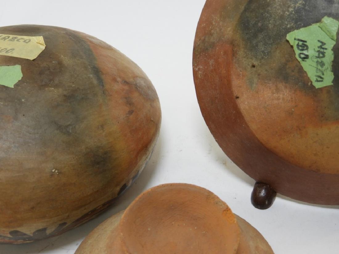 Three Pre-Columbian Pottery Nazca Culture Bowls - 9