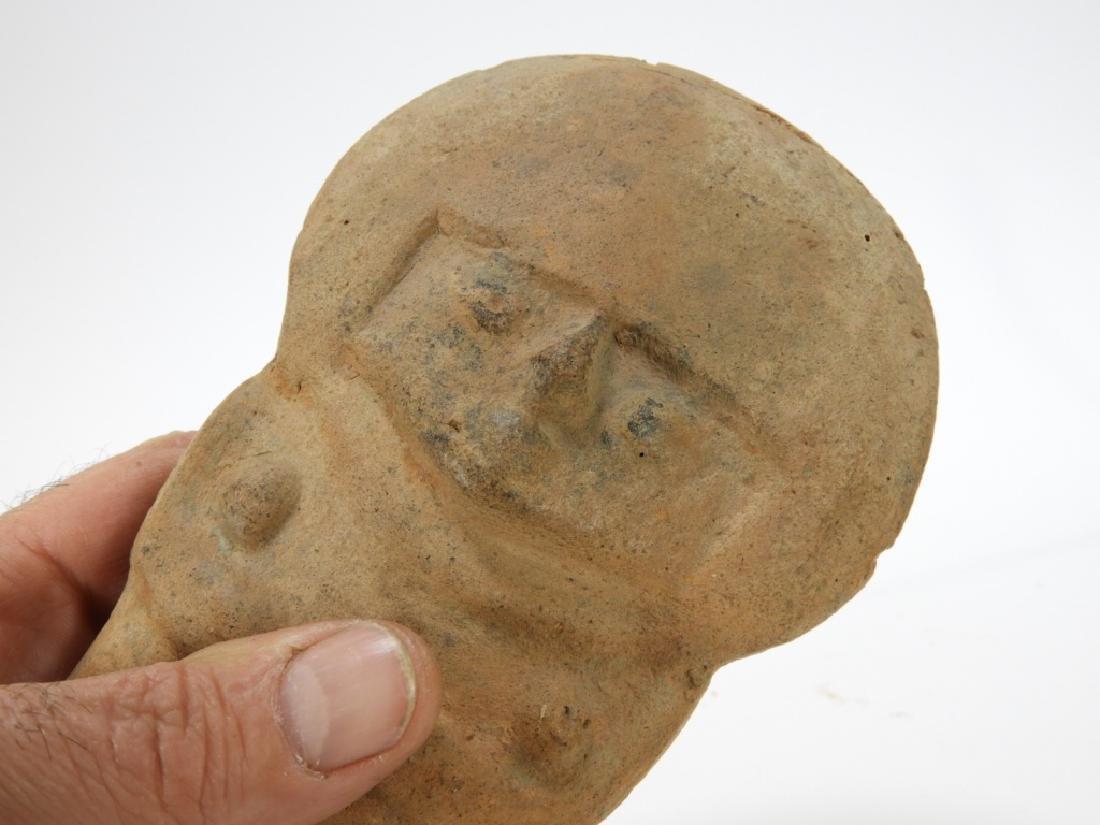 2 Pre Columbian Moche Standing Figure & Vase - 3