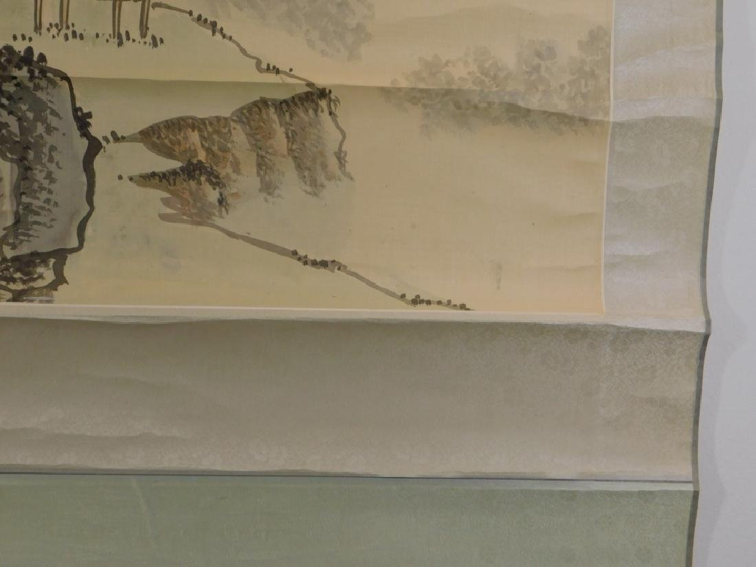 Chinese Mountainous Landscape Silk Scroll Painting - 6