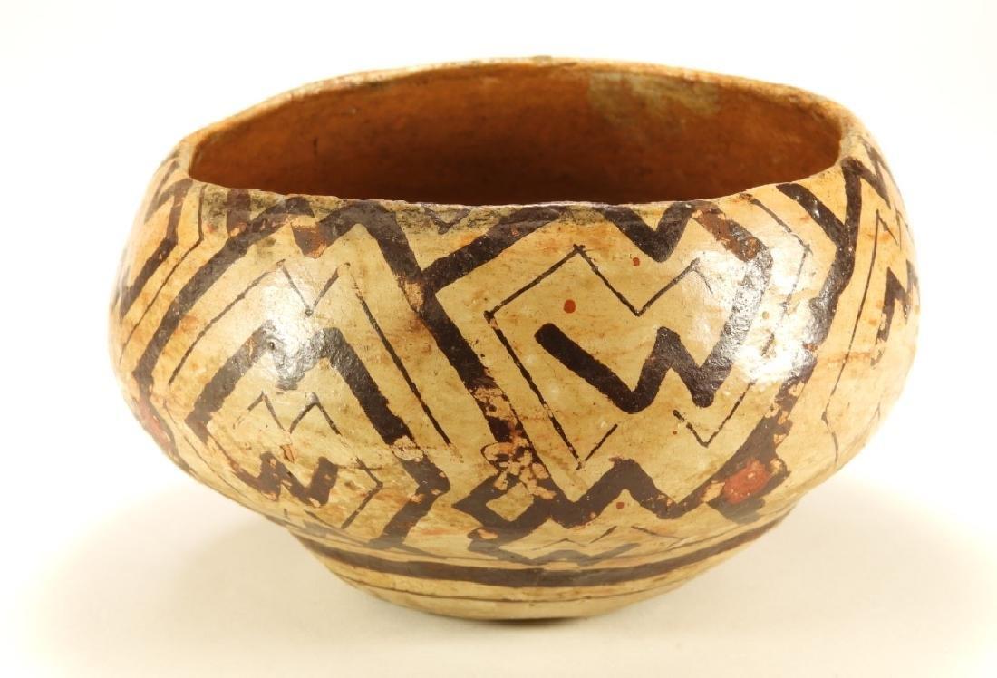 19C. Peruvian Shipibo Indian Pottery Bowl