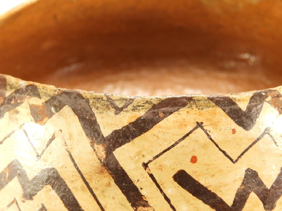 19C. Peruvian Shipibo Indian Pottery Bowl - 2