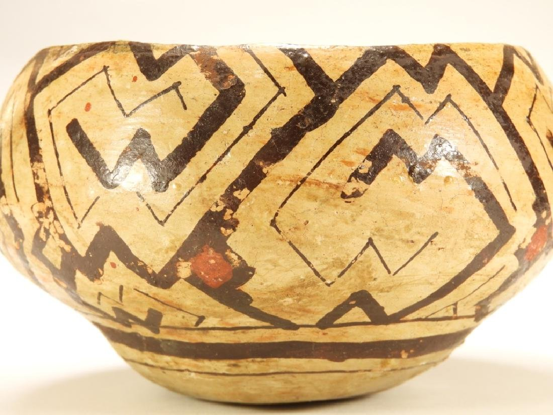 19C. Peruvian Shipibo Indian Pottery Bowl - 3