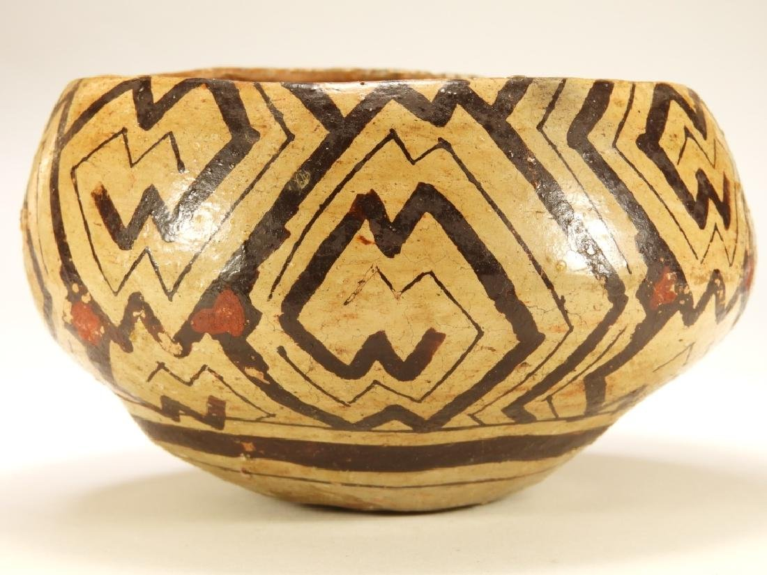 19C. Peruvian Shipibo Indian Pottery Bowl - 4