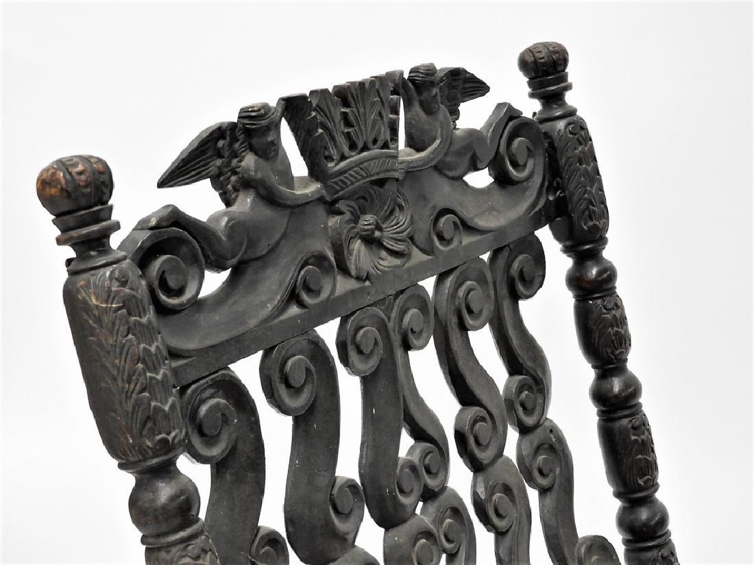 17C. Italian Renaissance Revival Caned Recamier - 2