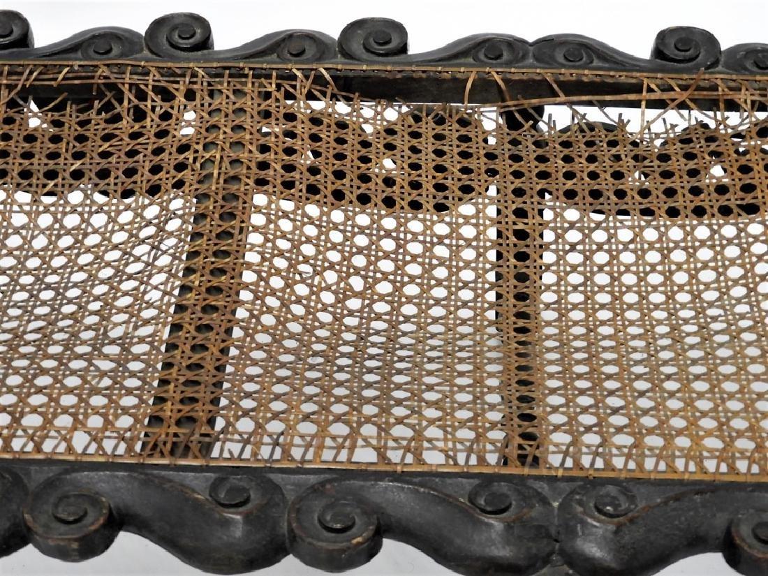 17C. Italian Renaissance Revival Caned Recamier - 4