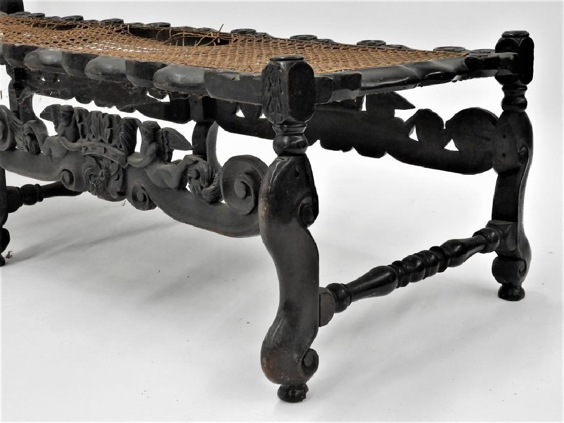 17C. Italian Renaissance Revival Caned Recamier - 6