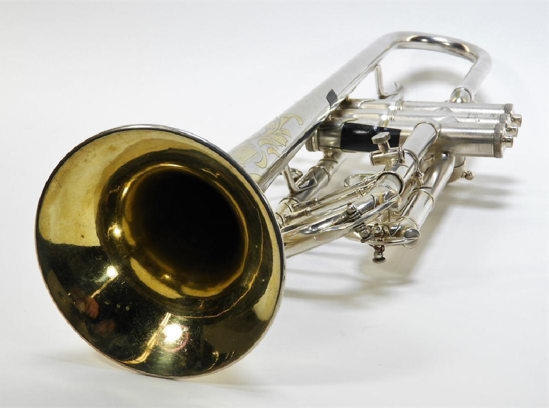 Buescher Aristocrat Silver Plated Brass Trumpet - 10