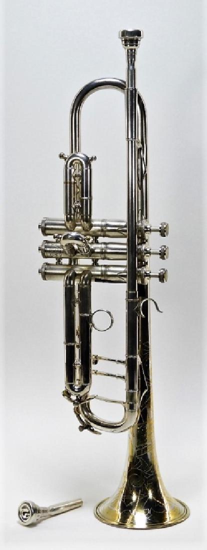 Buescher Aristocrat Silver Plated Brass Trumpet