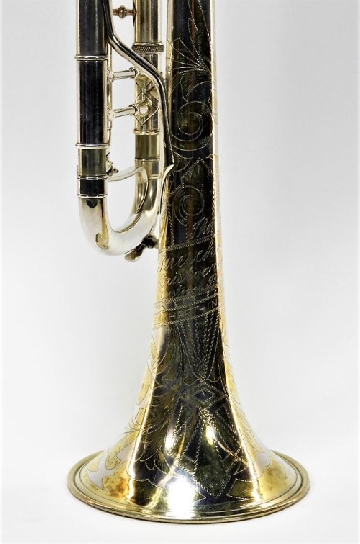 Buescher Aristocrat Silver Plated Brass Trumpet - 2