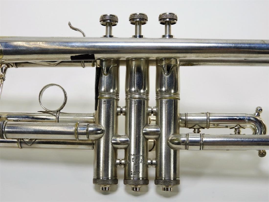 Buescher Aristocrat Silver Plated Brass Trumpet - 4