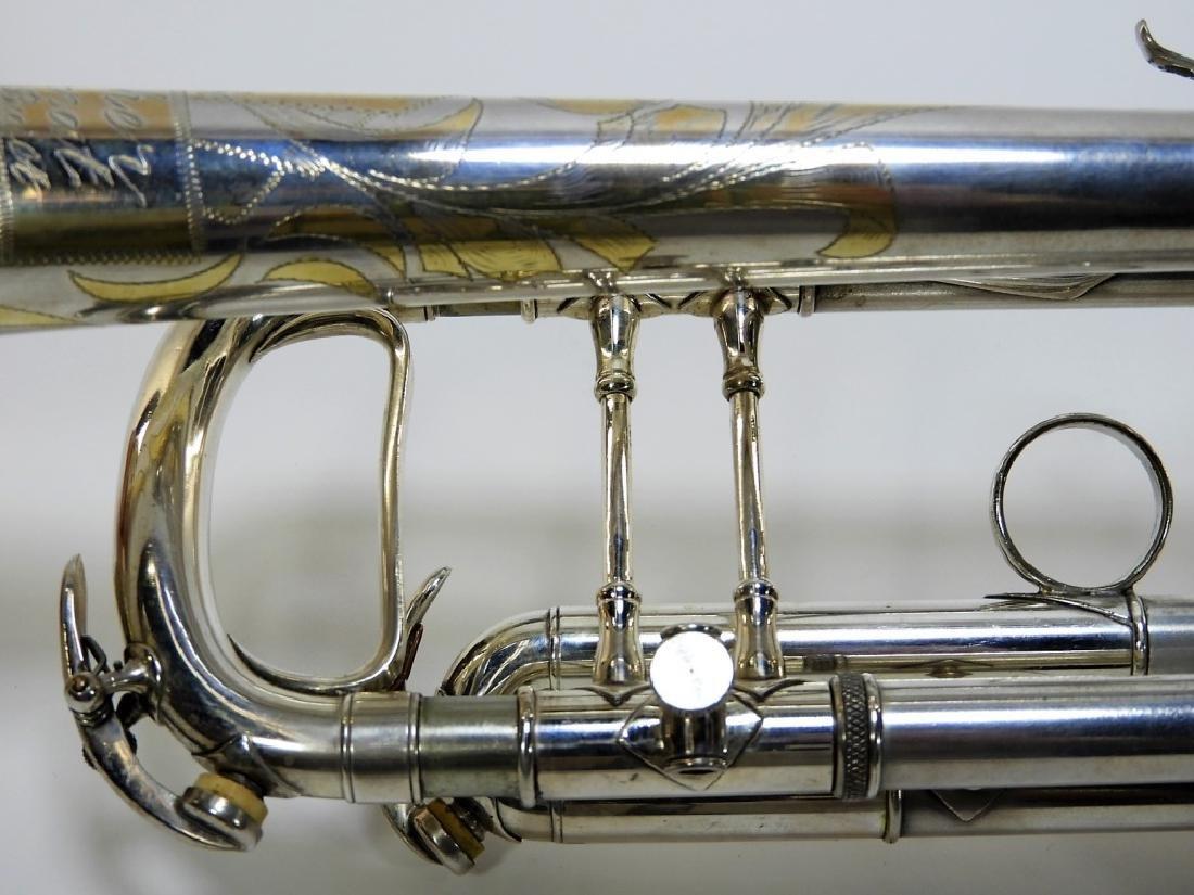 Buescher Aristocrat Silver Plated Brass Trumpet - 5