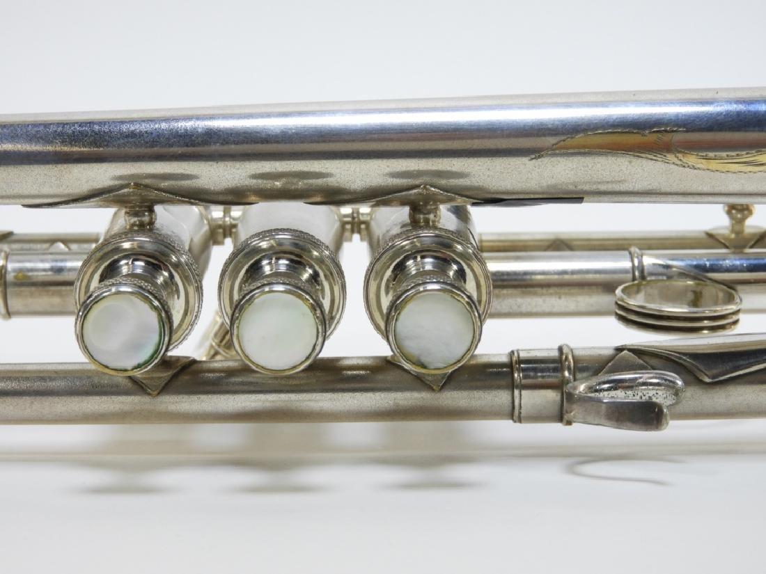 Buescher Aristocrat Silver Plated Brass Trumpet - 6