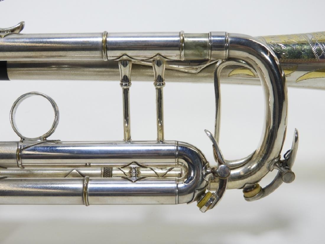 Buescher Aristocrat Silver Plated Brass Trumpet - 8