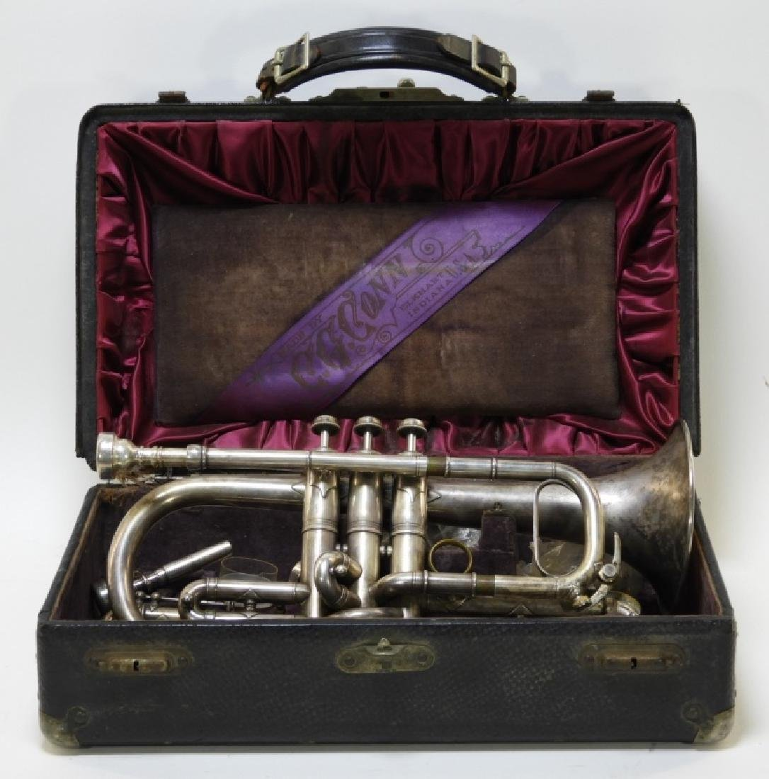1907 C. G. Conn LTD Elkhart Cornet Director Horn
