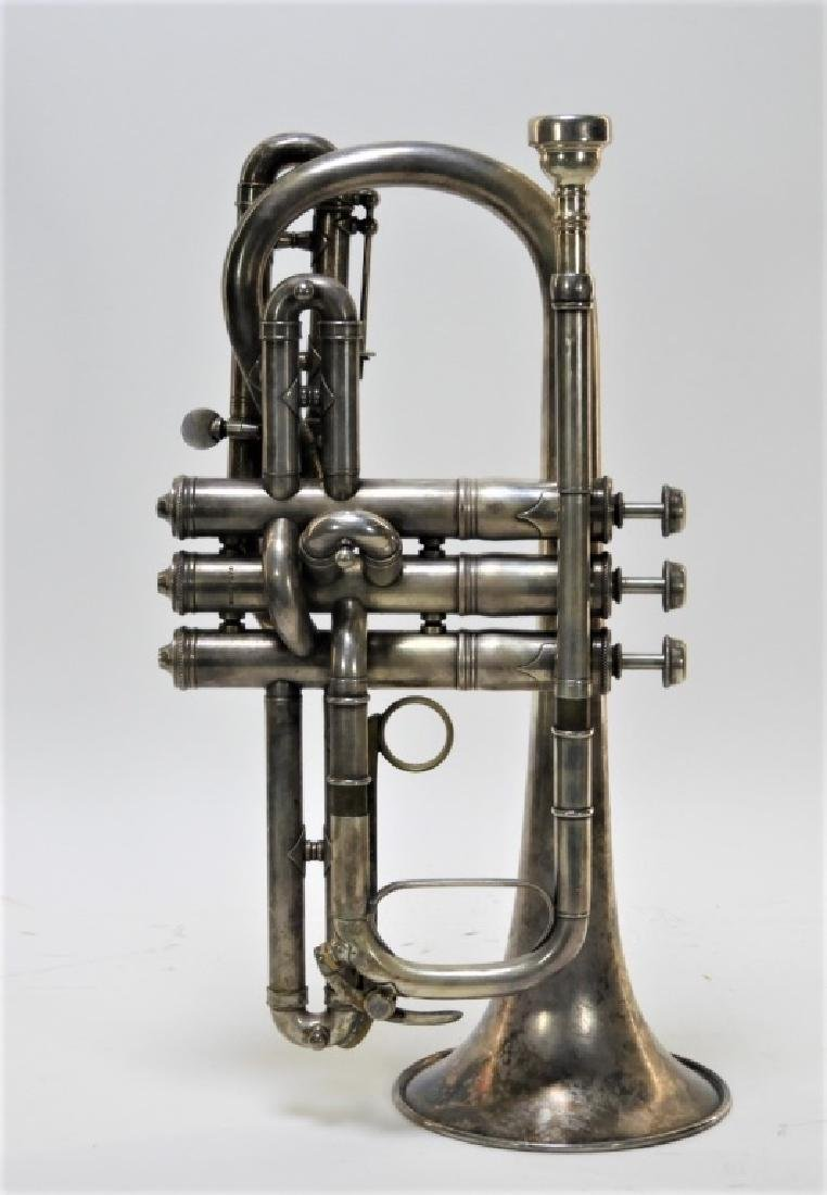 1907 C. G. Conn LTD Elkhart Cornet Director Horn - 2
