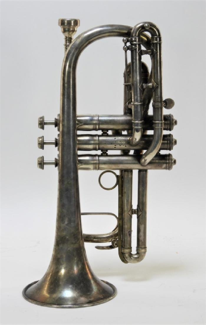 1907 C. G. Conn LTD Elkhart Cornet Director Horn - 4