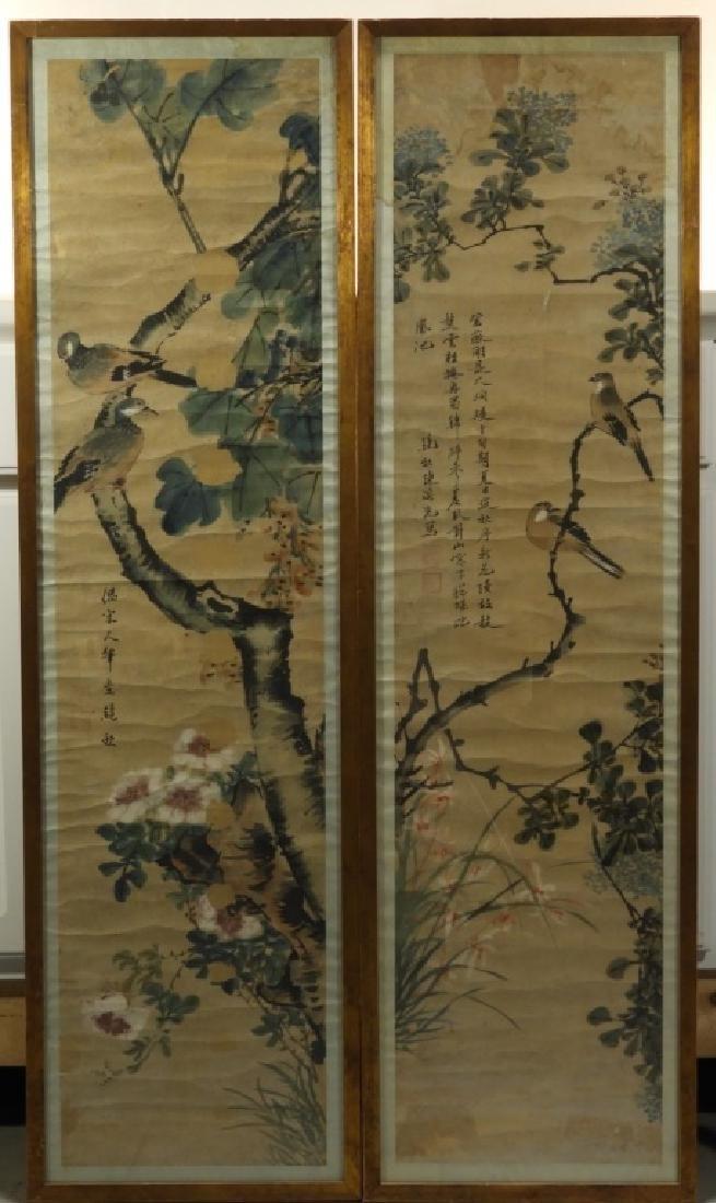 PR. 19C. Chinese Watercolor Avian Scroll Paintings