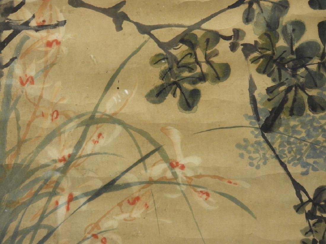 PR. 19C. Chinese Watercolor Avian Scroll Paintings - 8