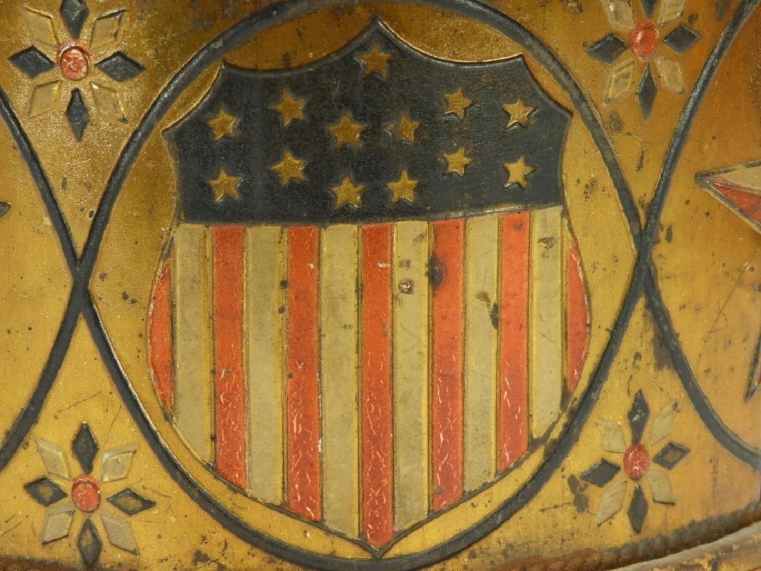 19C. American Folk Tin Lithograph Snare Drum - 4