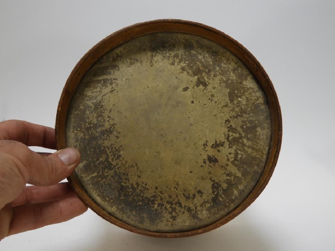 19C. American Folk Tin Lithograph Snare Drum - 5