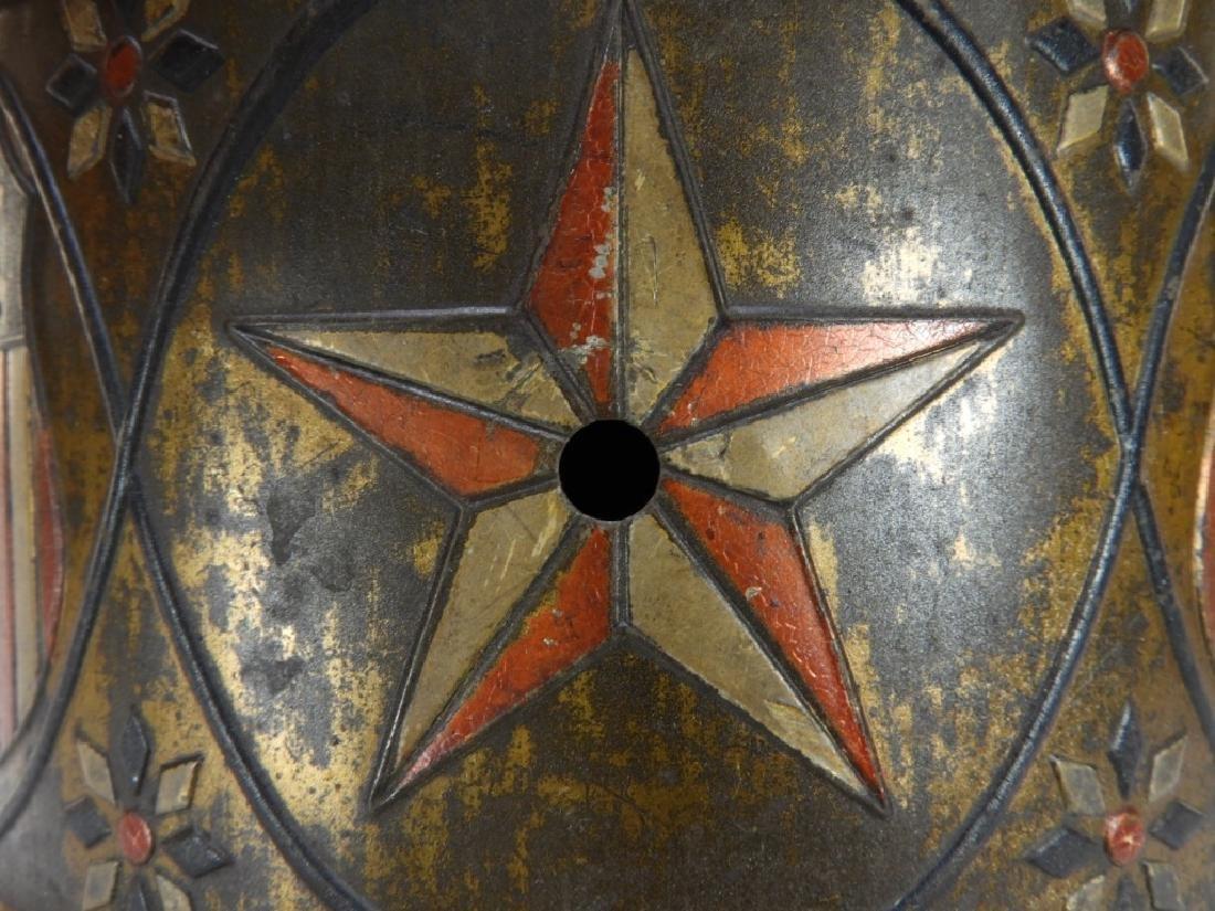 19C. American Folk Tin Lithograph Snare Drum - 7