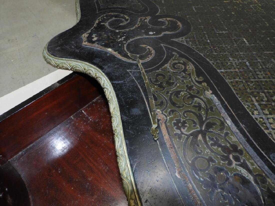 19C. French Neoclassical Ebonized Boulle Table - 12