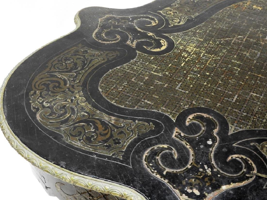 19C. French Neoclassical Ebonized Boulle Table - 3