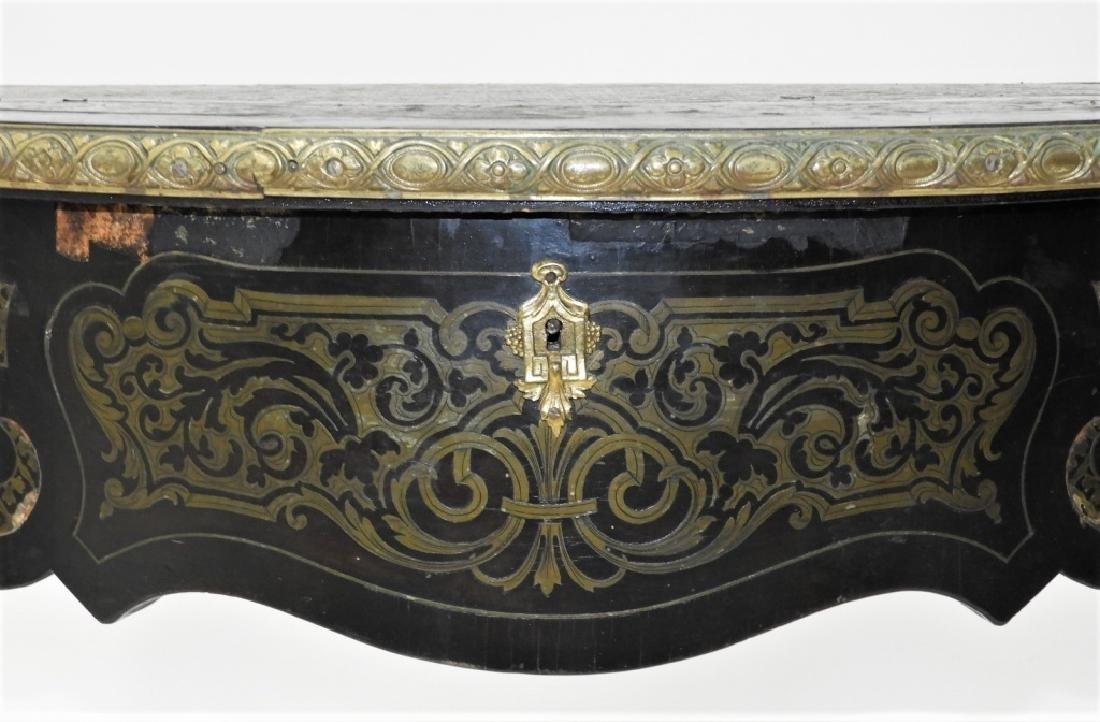 19C. French Neoclassical Ebonized Boulle Table - 6