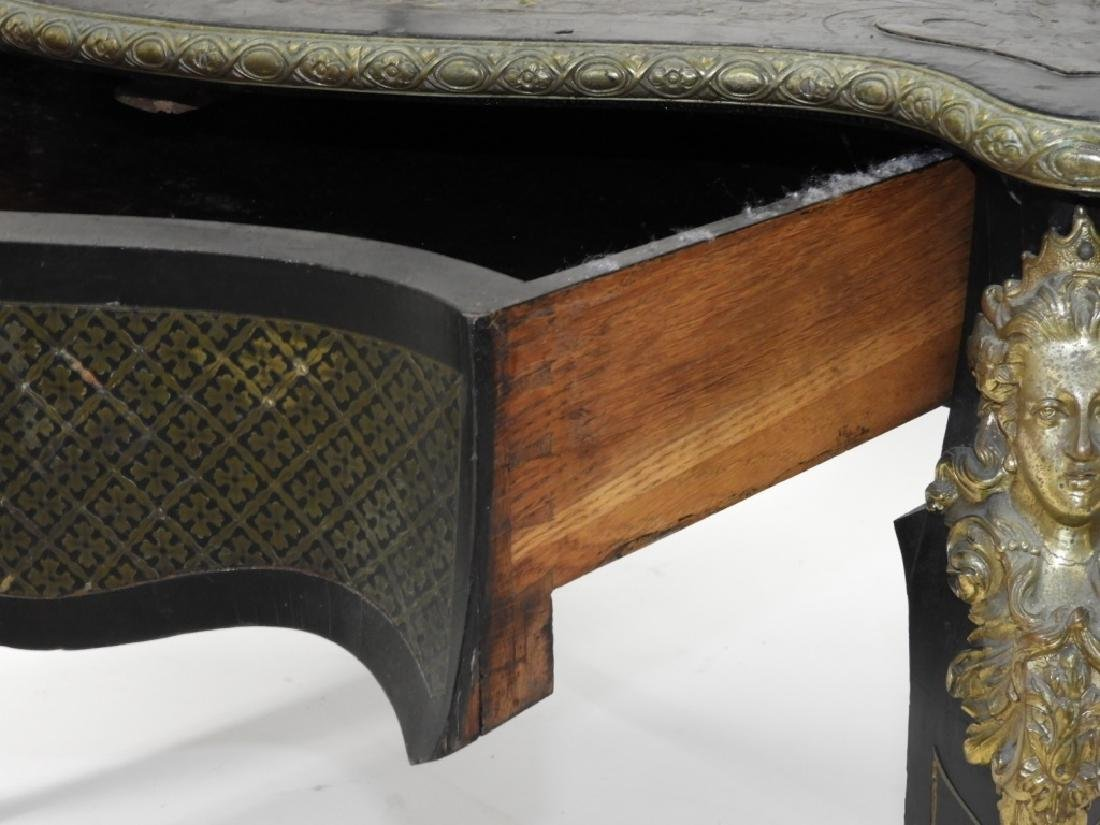 19C. French Neoclassical Ebonized Boulle Table - 7