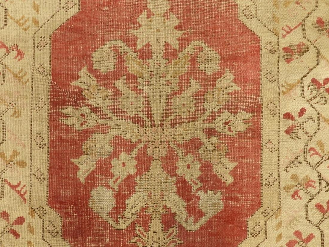 C.1900 Oriental Persian Wool Raspberry Carpet Rug - 2