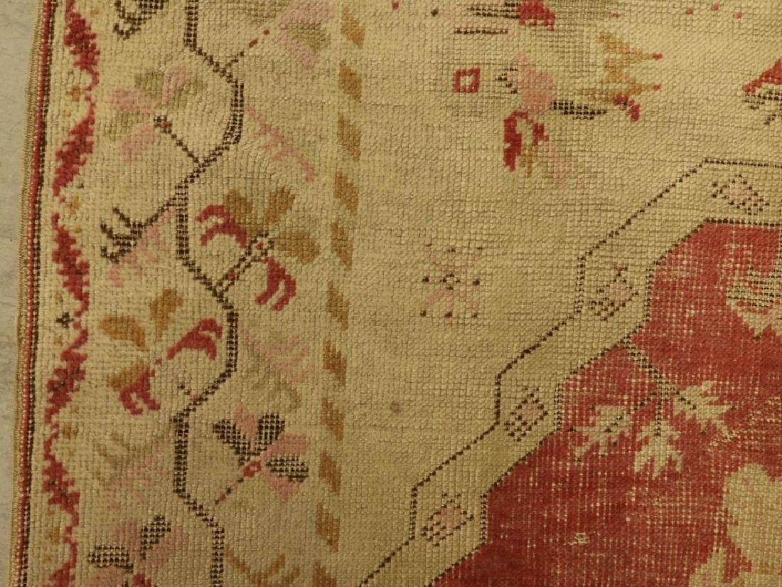 C.1900 Oriental Persian Wool Raspberry Carpet Rug - 3