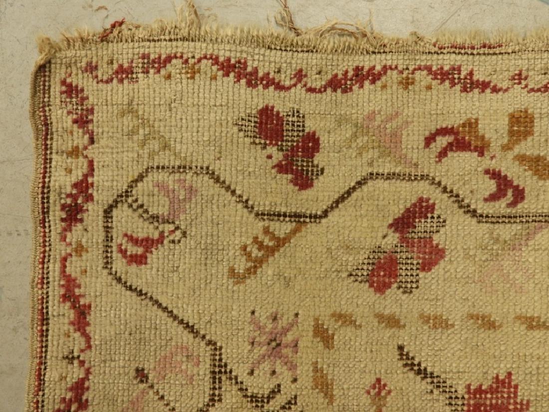 C.1900 Oriental Persian Wool Raspberry Carpet Rug - 4