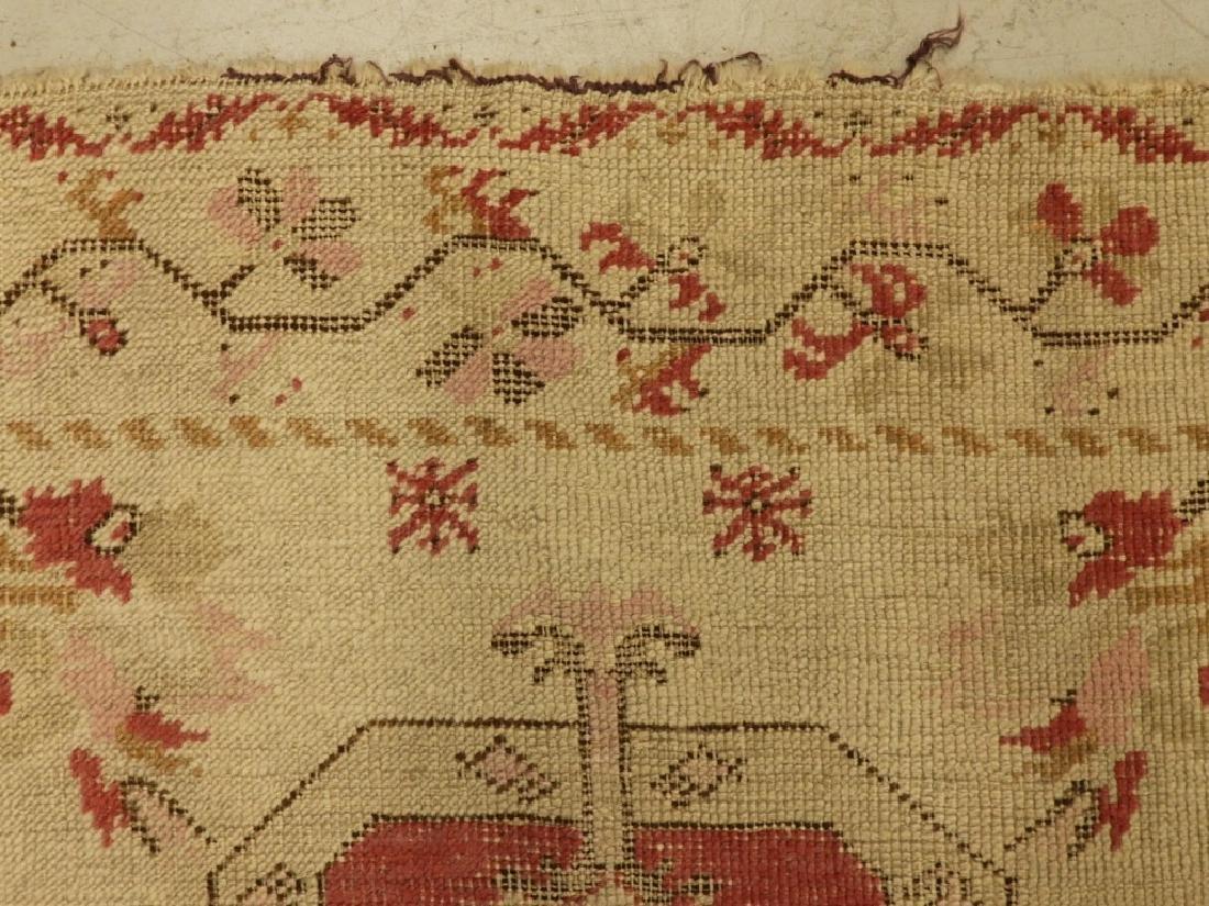 C.1900 Oriental Persian Wool Raspberry Carpet Rug - 5