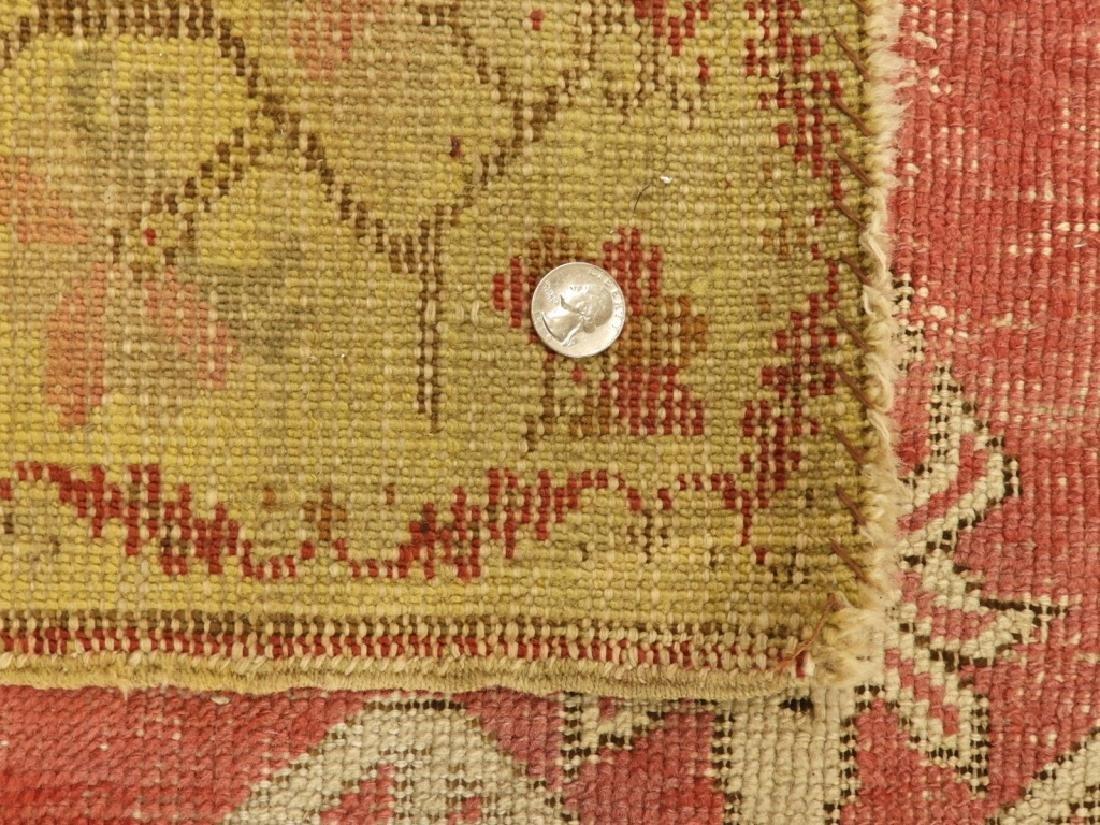 C.1900 Oriental Persian Wool Raspberry Carpet Rug - 6