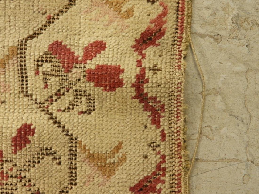C.1900 Oriental Persian Wool Raspberry Carpet Rug - 7