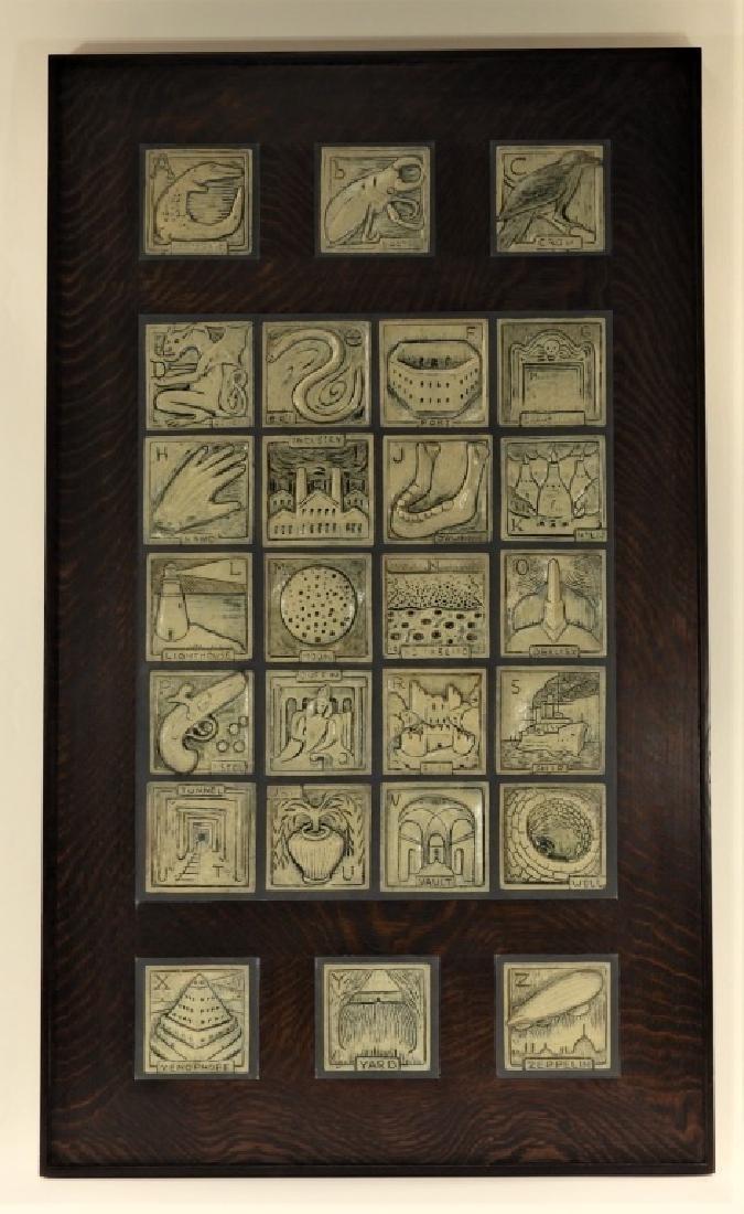 Jonathan White Odd Inq Pottery Alphabet Tile