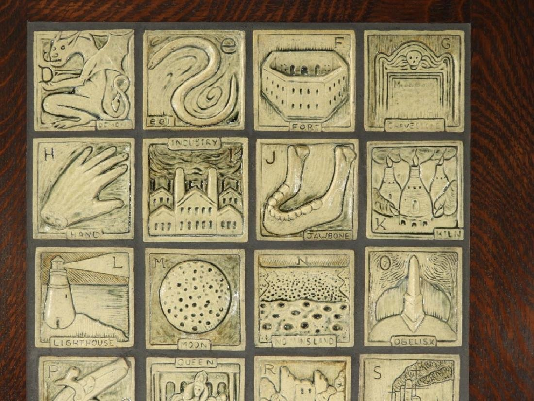 Jonathan White Odd Inq Pottery Alphabet Tile - 3