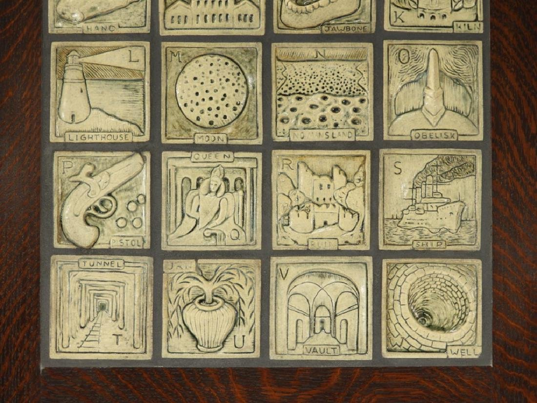 Jonathan White Odd Inq Pottery Alphabet Tile - 4