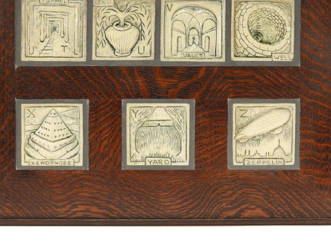 Jonathan White Odd Inq Pottery Alphabet Tile - 5