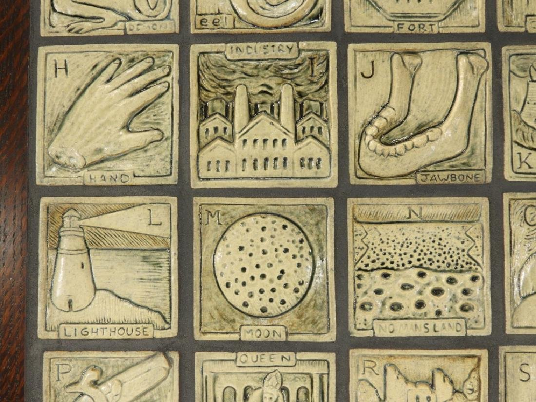 Jonathan White Odd Inq Pottery Alphabet Tile - 6