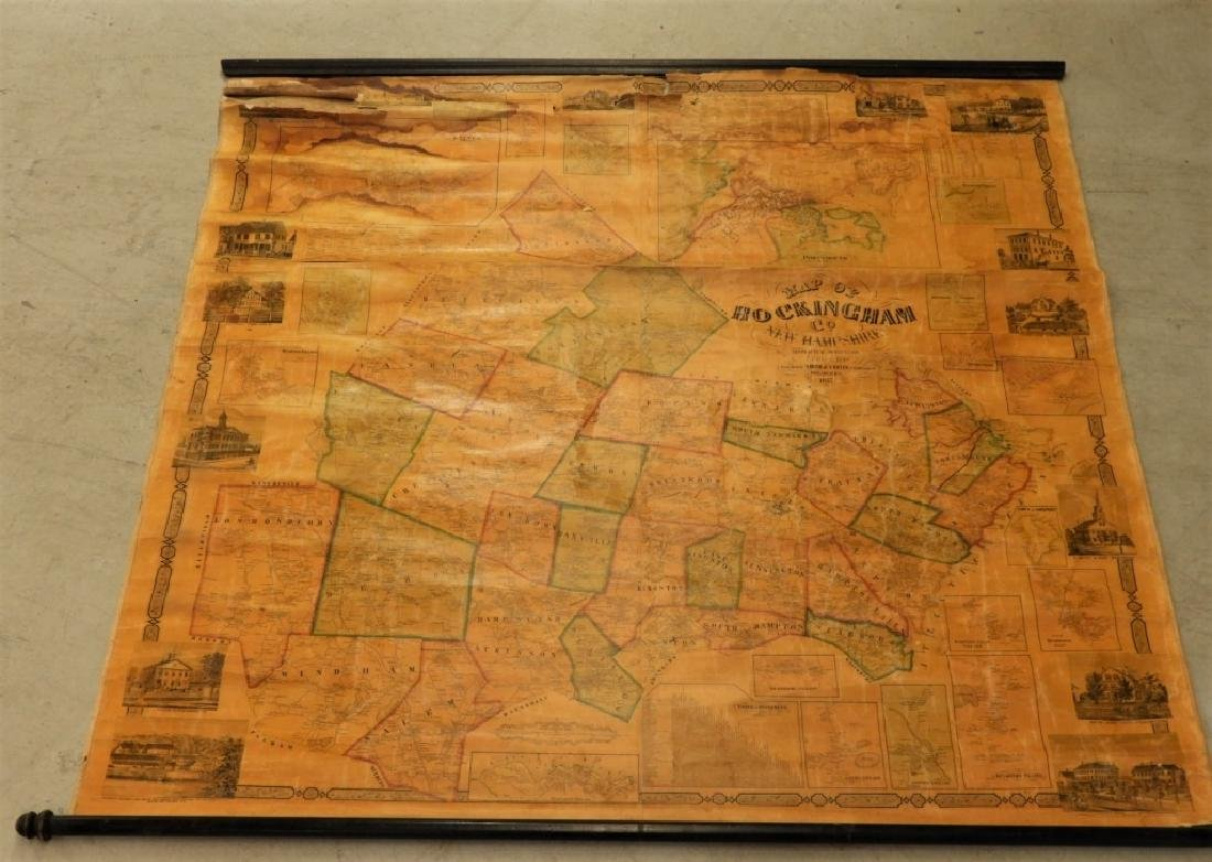 19C J. Chase June Rockingham Co. New Hampshire Map