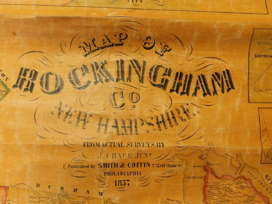 19C J. Chase June Rockingham Co. New Hampshire Map - 2
