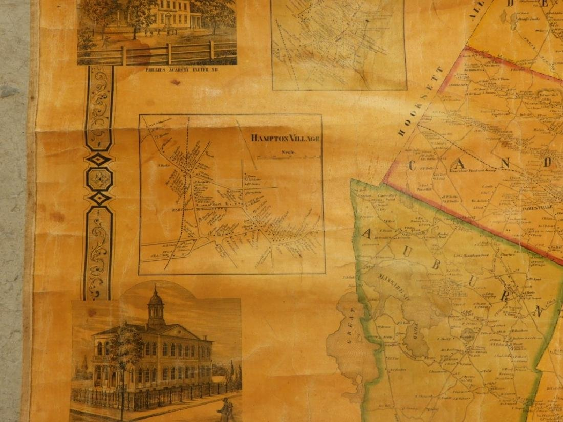 19C J. Chase June Rockingham Co. New Hampshire Map - 4