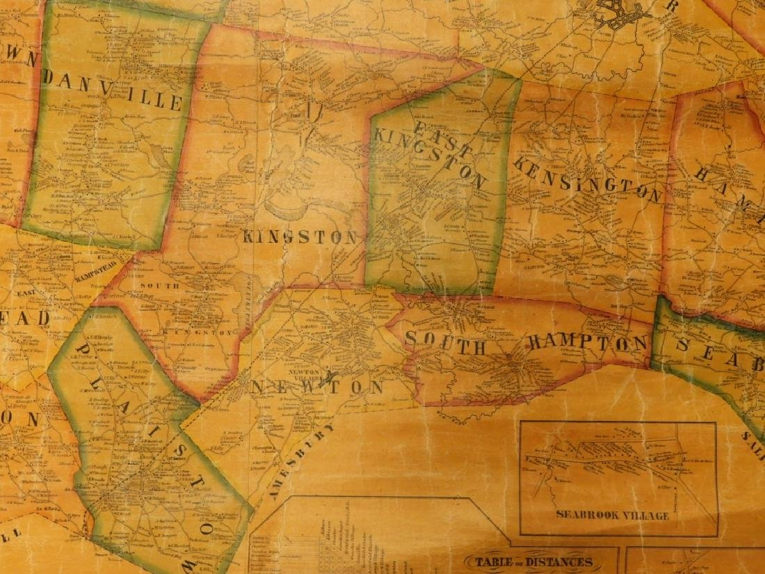 19C J. Chase June Rockingham Co. New Hampshire Map - 7
